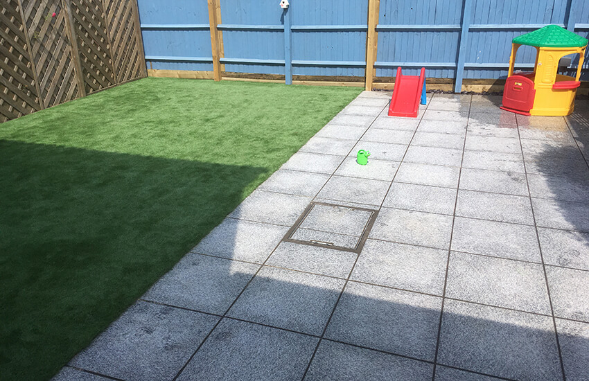 Childrens garden play area