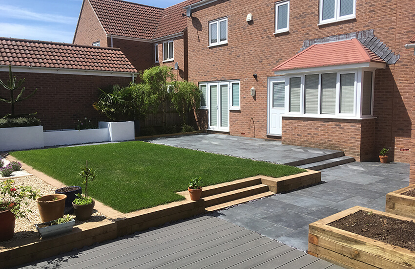 Landscaped garden in Bristol