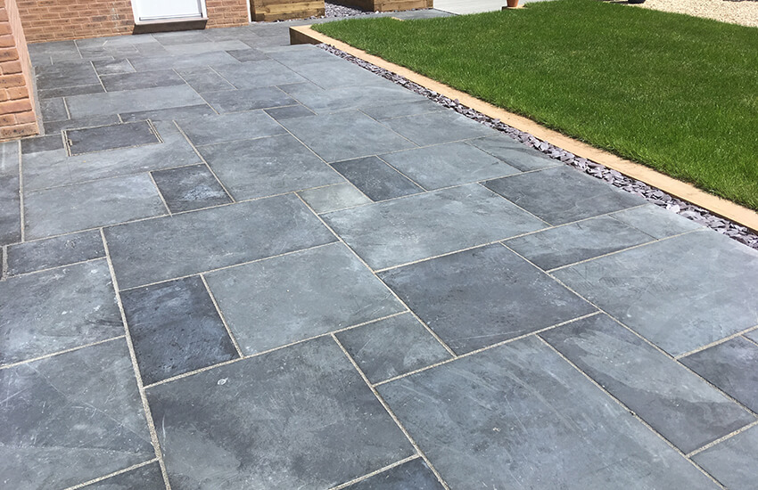 Light grey patio slabs