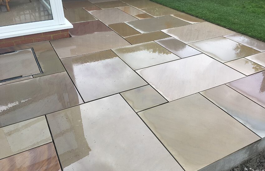Lovely patio slabs