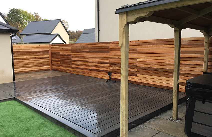 Timber wall and decking