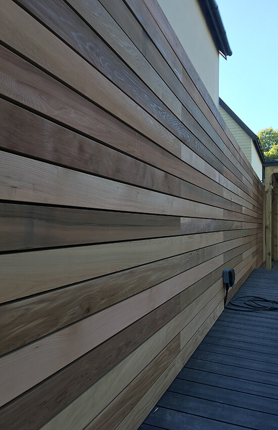Timber wall cladding