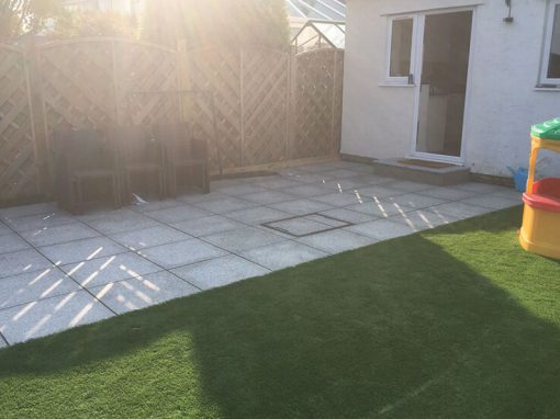 Granite paving & artificial lawn, Longwell Green