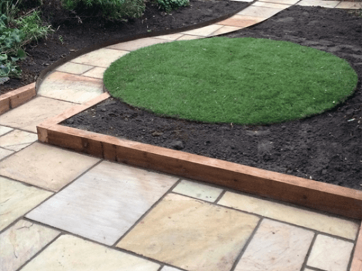 Sandstone patio & turf, Yate
