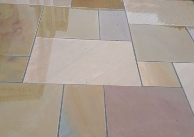 Sawn sandstone paving, Winterbourne