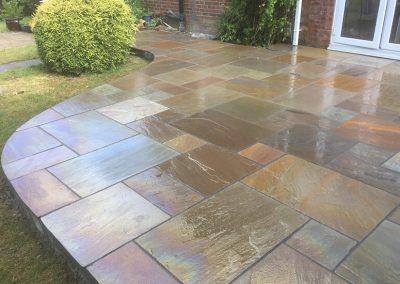 Sandstone paving, Frampton Cotterell